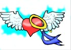 How to Draw an Angel Heart