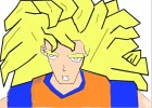 comment dessiner sangoku super sayen 3