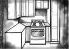 How to Draw a Kitchen (Ver 2)