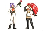 How to draw Team Rocket from Pokemon