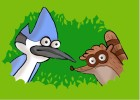 How to Draw Mordecai And Rigby from Regular Show