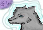 Silver Wolf With Blue Eyes