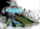 How to draw Raiden from Mortal Kombat: Deception