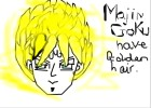 How to Draw Majin Goku Have Golden Hair