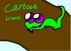 How to Draw a 4 Step Cartoon Lizard