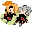 How to Draw Sasori Chibi and Deidara