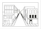 how to draw 1-point perspective