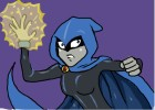 how to draw Raven from Teen Titans