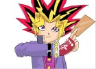 How to draw yugi moto from yu-gi-oh