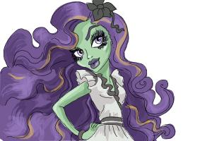 How to draw Amanita Nightshade from Monster High