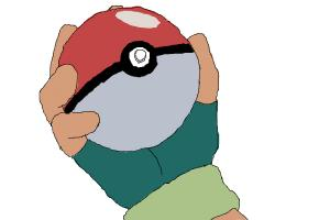 Ash and the pokeball...