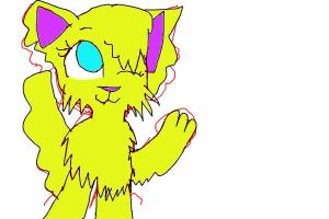 Blue Yellow Cat