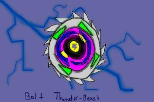 Bolt Thunder-Beast With Lightning Background