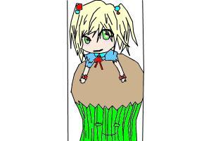 Chibi On Cupcake