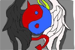 demon/angle yin yang