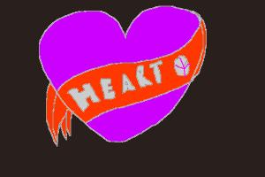 Draw a Cute Heart With Banner