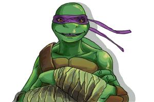 How to draw Donatello from Teenage Mutant Ninja Turtles 2014, TMNT