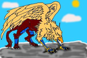 Gryphon On Mountain