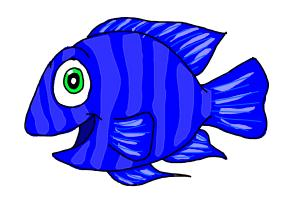Haw to draw a cartoon fish drawingnow for Fish cartoon movie