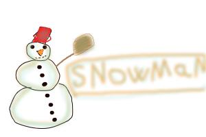 hot to do a simple snowman
