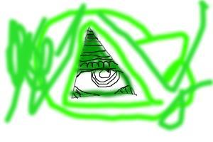 how to draw a bad illuminati symbol
