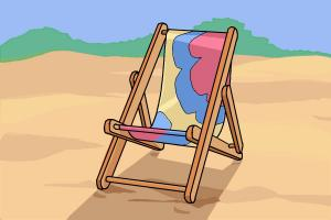 How to draw a beach chair
