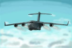 How to draw a Boeing C-17 Globemaster III