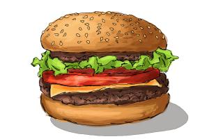 How To Draw Burger Step By Drawing Lessons DrawingNow