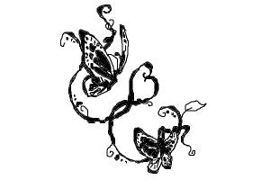 how to draw a butterfly tattoo