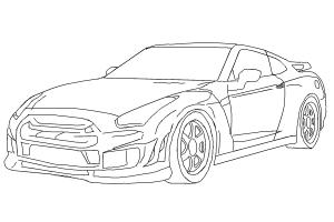 How to draw a car (Nissan Skyline)