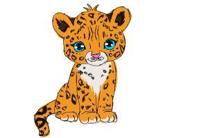 How to Draw a Cartoon Cheetah