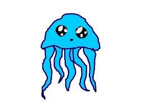 how to draw a cartoon jellyfish