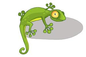 How to Draw a Cartoon Lizard