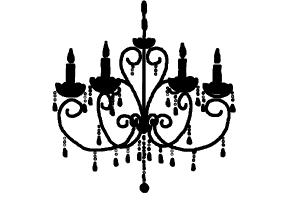 How to draw a chandelier