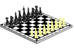 How to draw a chess (board and initial position of figures)