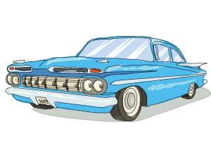 How to draw a Chevrolet Impala