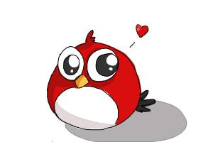 How to Draw a Chibi Angry Bird