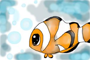 How to Draw a Chibi Clownfish