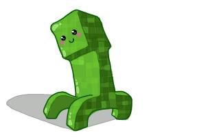How to draw a Chibi Minecraft Creeper