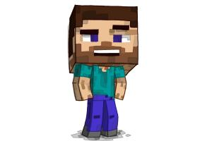 How to draw a Chibi Steve from Minecraft