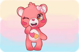 How to draw a Chibi Valentine Bear