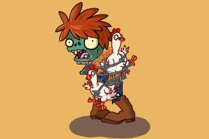 How to draw a Chicken Wrangler Zombie from Plants vs. Zombies 2