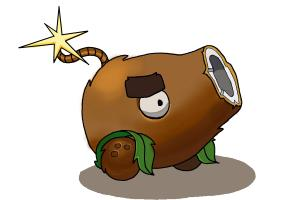 How to Draw a Coconut Cannon from Plants Vs. Zombies 2