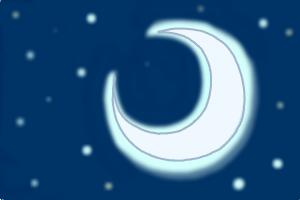 How to draw a Crescent moon