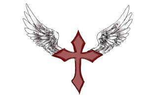 How To Draw A Cross With Wings Drawingnow