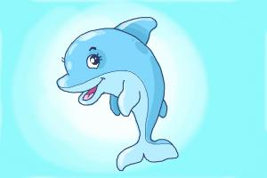 How to draw a cute Dolphin