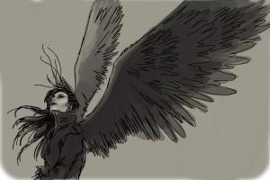 How to draw a dark angel