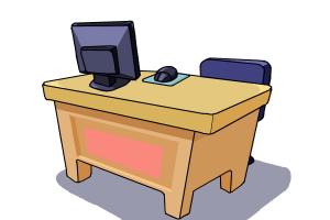 How To Draw A Desk