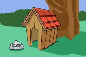How to draw a dog house