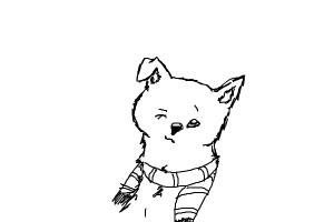 How to Draw a Dog With a Scarf